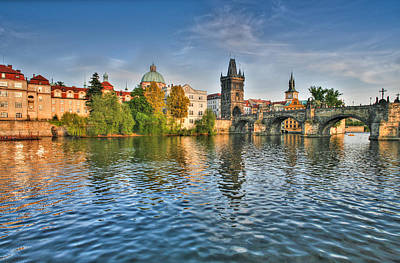 St Charles Bridge Prague Art Print