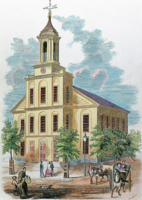 St Charles' Church Boston Art Print