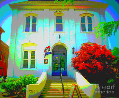 St. Charles County City Hall Painted Art Print by Kelly Awad