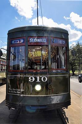Charles Digital Art - St Charles Line Street Car by Bill Cannon