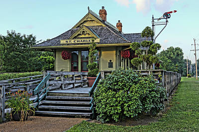 St Charles Station On The Katty Trail Look West Dsc00849 Art Print