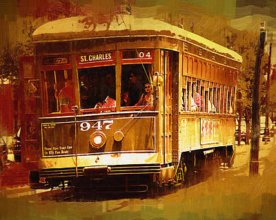 Painting - St Charles Street Car by Kirt Tisdale