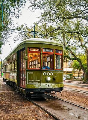 Streetcar Photograph - St. Charles Streetcar 2  by Steve Harrington