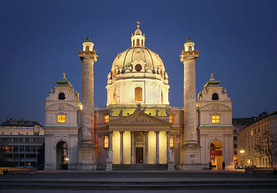 Photograph - St. Charles's Church - Vienna by Marc Huebner