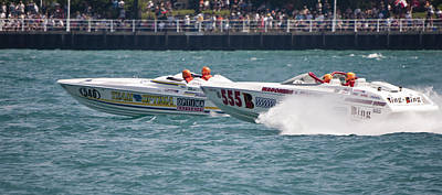 St. Clair Michigan Usa Power Boat Races-3 Print by Paul Cannon