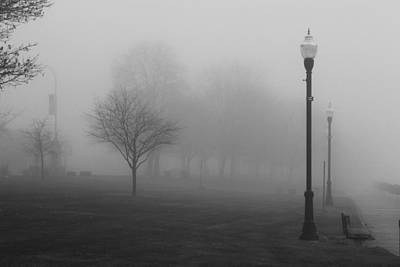Photograph - St. Clair Park In Fog by Mary Bedy