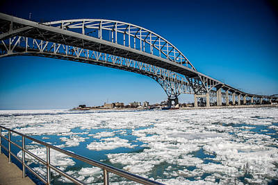 Photograph - St Clair River In The Winter by Ronald Grogan