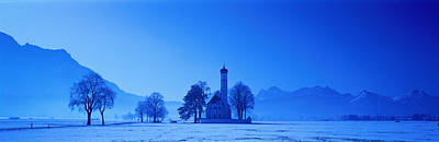 Sillouette Photograph - St. Coloman Church Schwangau Germany by Panoramic Images