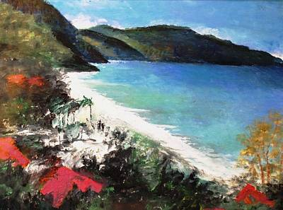 St. Croix Painting - St. Croix As Viewed Above The Carambola Resort by Anne-Elizabeth Whiteway