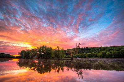 Stillwater Photograph - St. Croix River At Dawn by Adam Mateo Fierro
