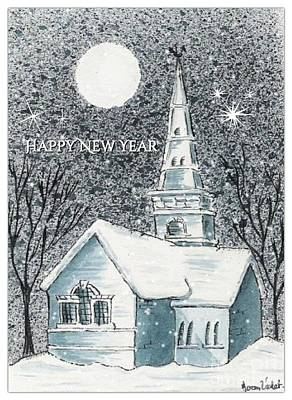Photograph - St Cuthbert's In The Snow New Year Greeting by Joan-Violet Stretch