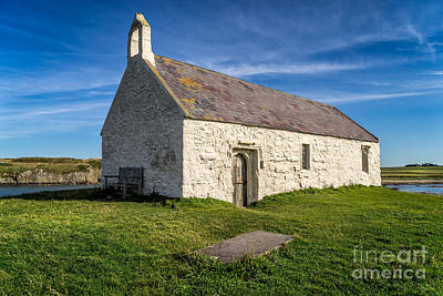 Coastline Digital Art - St Cwyfan Church by Adrian Evans