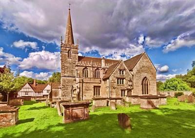 Digital Art - St Cyriac Church Lacock by Paul Gulliver