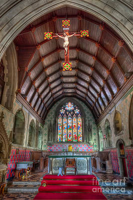 Stain Glass Table Photograph - St David's by Adrian Evans