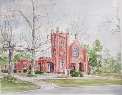 Painting - St. David's Episcopal Church by Gloria Turner