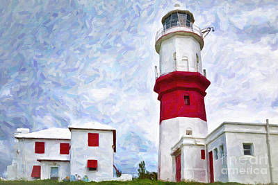 Art Print featuring the photograph St. David's Lighthouse by Verena Matthew