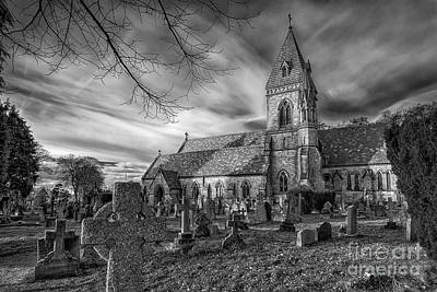 Graveyard Digital Art - St David's Pantasaph by Adrian Evans
