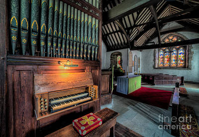Organ Pipes Photograph - St Digains Church by Adrian Evans