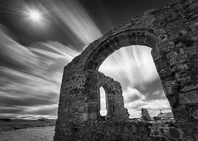 Llanddwyn Island Photograph - St Dwynwen's Church by Dave Bowman