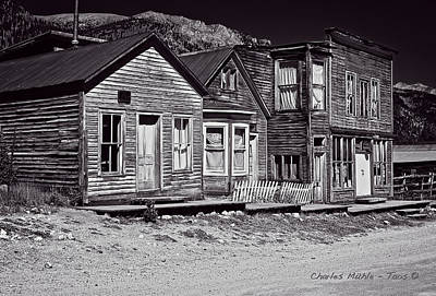 Photograph - St Elmo In Black And White by Charles Muhle