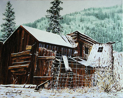 Painting - St Elmo Snow II by Craig T Burgwardt