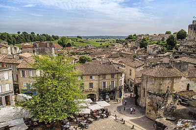 Photograph - St Emilion French Town by Georgia Fowler