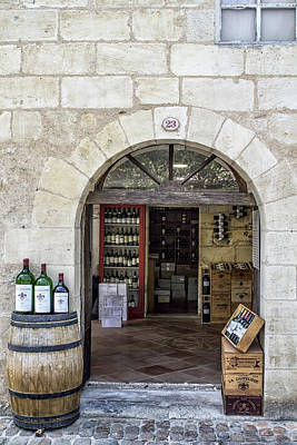St Emilion Wine Shop Art Print