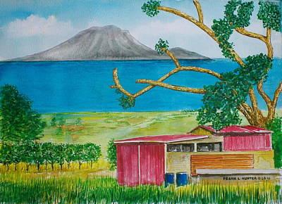 St. Eustatis From St. Kitts Art Print by Frank Hunter