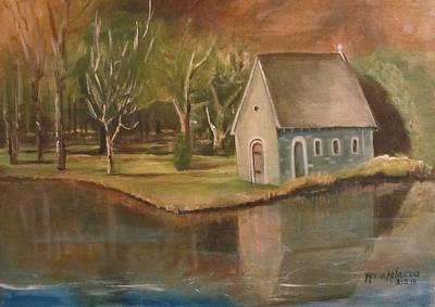 Gougane Barra Painting - St. Finbarr Oratory At Gougane Barra Lake Cork Ireland by Maria Milazzo