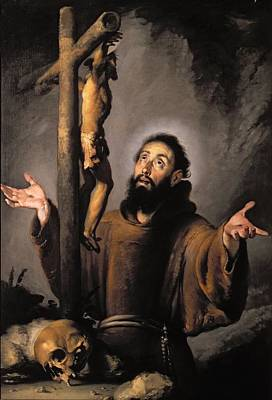 Crucifix Wall Art - Painting - St. Francis by Bernardo Strozzi