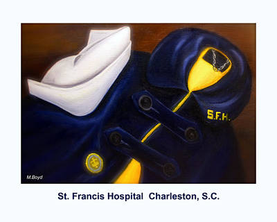 Painting - St. Francis Hospital School Of Nursing by Marlyn Boyd