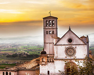 Francesco Photograph - St Francis Of Assisi Church At Sunrise  by Susan Schmitz