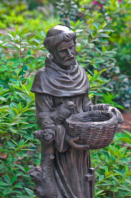 Photograph - St Francis Of Assisi Garden Statute by Ginger Wakem