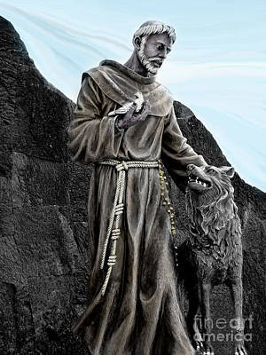 St Francis Of Assisi On Isabela In The Galapagos Art Print