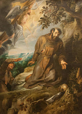 St. Francis Of Assisi Receiving The Stigmata Art Print