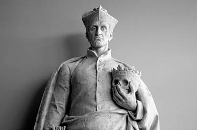 St. Francis Statue At The Mission Of Nombre De Dios Museum Original by William Ragan