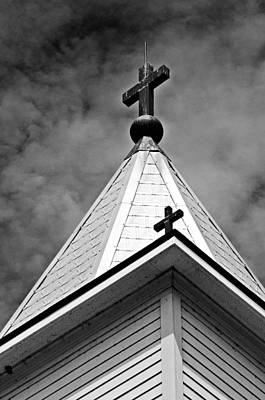 Photograph - St. Gabriel Church Steeple by Andy Crawford