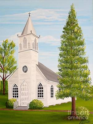 Painting - St. Gabriel The Archangel Roman Catholic Church by Valerie Carpenter