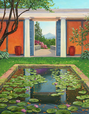 Historic Site Painting - Saint-gaudens Water Lily Pond, Cornish, Nh by Elaine Farmer
