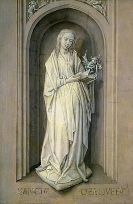 St. Genevieve D.c.500, C.1479 Panel Art Print by Hugo van der Goes