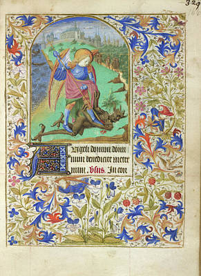 Famous Book Photograph - St George And The Dragon by British Library