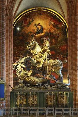 Photograph - St. George And The Dragon - Stockholm Cathedral - Sweden by Photography  By Sai
