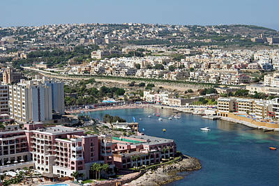 Maltese Photograph - St George Bay, Aerial View, Malta by Nico Tondini