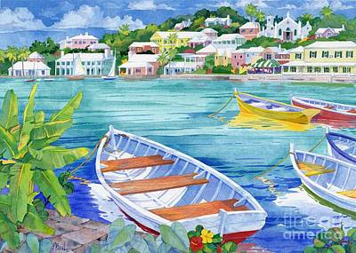 Caribbean House Painting - St George Harbor by Paul Brent