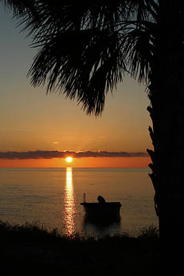 St. George Island Sunset Art Print by Lynn Jordan