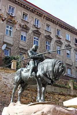 Photograph - St. George Sculpture by Borislav Marinic
