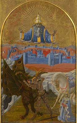 Slaying Painting - St. George Slaying The Dragon by Paolo Uccello