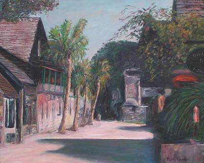 St. Augustine Florida Painting - St. George Street II by Patty Weeks