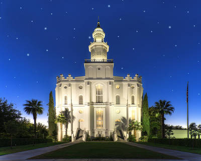 Photograph - St. George Temple 2 by Dustin  LeFevre