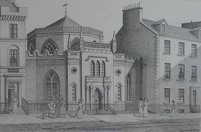 Drawing - St Georges Chapel Edinburgh by William Goldsmith